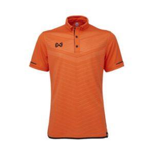 เสื้อโปโล WARRIX สีส้ม-ดำ WA-3318N-OA