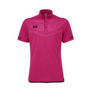 เสื้อโปโล WARRIX สีชมพู-ดำ WA-3318N-PA