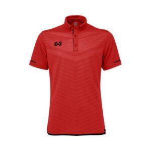 เสื้อโปโล WARRIX สีแดง-ดำ WA-3318N-RA