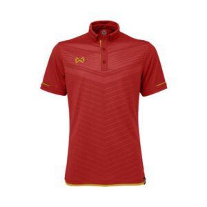 เสื้อโปโล WARRIX สีแดง-ทอง WA-3318N-RN