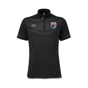 เสื้อโปโลช้างศึก ทีมชาติไทย สีดำ-เทา WA-3318NFTM2-AE