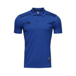 เสื้อโปโล Warrix สีน้ำเงิน-กรมท่า WA-3321-BD
