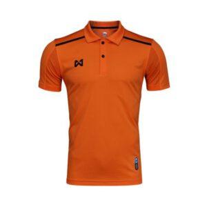 เสื้อโปโล Warrix สีส้ม-ดำ WA-3321-OA