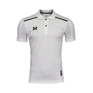 เสื้อโปโล Warrix สีขาว-ดำ WA-3321-WA