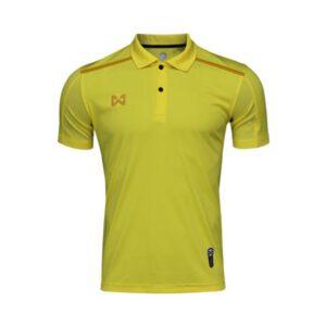 เสื้อโปโล Warrix สีเหลือง-ทอง WA-3321-YN