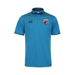เสื้อโปโลช้างศึก ทีมชาติไทย รุ่น RICADO สีฟ้าน้ำทะเล-กรมท่า WA-3323FTM2-ID
