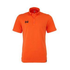 เสื้อโปโล WARRIX รุ่น Bubble สีส้ม WA-3324-OO
