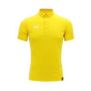 เสื้อโปโล WARRIX รุ่น Bubble สีเหลือง-ขาว WA-3324-YW