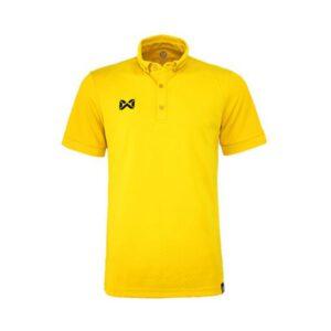 เสื้อโปโล WARRIX รุ่น Bubble สีเหลือง WA-3324-YY