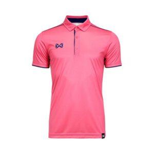 เสื้อโปโล WARRIX สีชมพู-กรมท่า WA-3326-PD