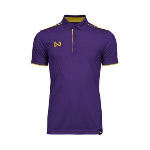 เสื้อโปโล WARRIX สีม่วง-เหลือง WA-3326-VY
