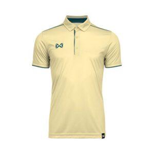 เสื้อโปโล WARRIX สีเหลืองอ่อน-ฟ้าน้ำทะเล WA-3326-YI