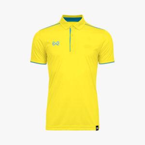 เสื้อโปโล WARRIX สีเหลือง-ฟ้า WA-3326-YL