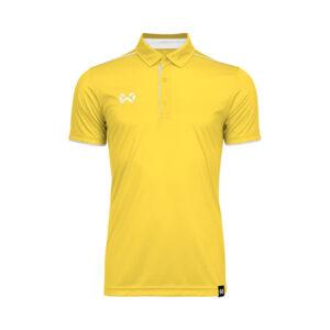 เสื้อโปโล WARRIX สีเหลือง-ขาว WA-3326-YW