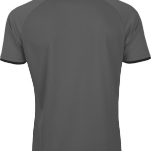 เสื้อโปโลเบสิคแขนสั้น Emboss สีเทา WA-3327-EE