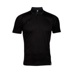 เสื้อโปโลเบสิคแขนสั้น สีดำ-เทา WA-3328-AE