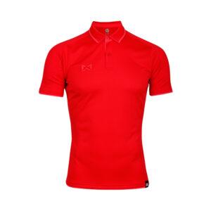 เสื้อโปโลเบสิคแขนสั้น สีแดง-ชมพู WA-3328-RP