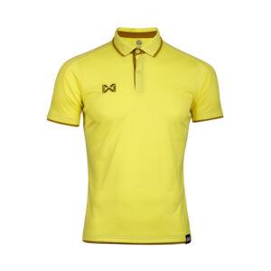 เสื้อโปโลเบสิคแขนสั้น สีเหลือง-เขียว WA-3328-YG