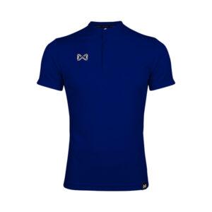 เสื้อโปโล แขนสั้น คอจีน สีน้ำเงิน WA-3329-BB