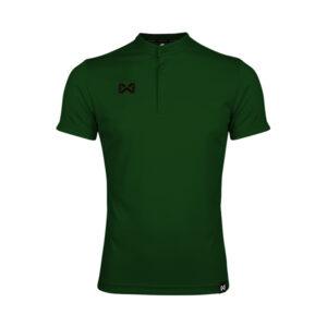 เสื้อโปโล แขนสั้น คอจีน สีเขียว WA-3329-GG