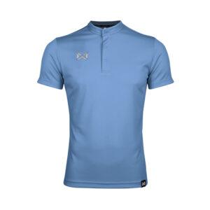 เสื้อโปโล แขนสั้น คอจีน สีฟ้า WA-3329-LL