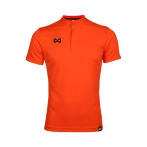 เสื้อโปโล แขนสั้น คอจีน สีส้ม WA-3329-OO
