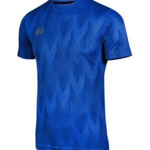 WARRIX เสื้อยืดคอกลมแขนสั้น สีน้ำเงิน WA-FBA574-BB