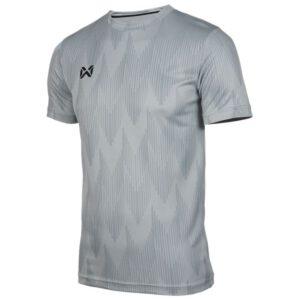 WARRIX เสื้อยืดคอกลมแขนสั้น สีเทา WA-FBA574-EE