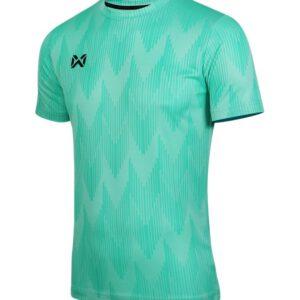 WARRIX เสื้อยืดคอกลมแขนสั้น สีเขียวมิ้นท์ WA-FBA574-G5