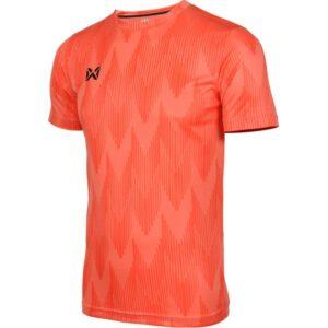 WARRIX เสื้อยืดคอกลมแขนสั้น สีส้มWA-FBA574-OO