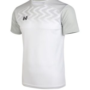 WARRIX เสื้อฟุตบอลคอกลมตัดต่อ แขนสั้น สีขาว WA-FBA573-WW