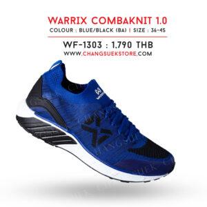 WARRIX รองเท้าผ้าใบ วอริกซ์ สีน้ำเงิน-ดำ รุ่น Combaknit 1.0 WF-1303-BA