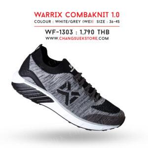WARRIX รองเท้าผ้าใบ วอริกซ์ สีขาว-เทา รุ่น Combaknit 1.0 WF-1303-WE