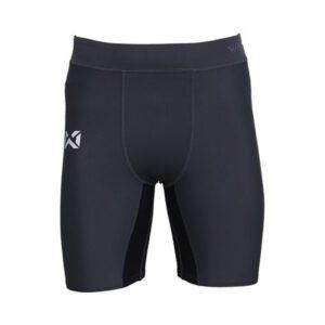กางเกงรัดกล้ามเนื้อขาสั้น (ผู้ชาย) สีเทา-ดำ WP-18FT01M1-EA