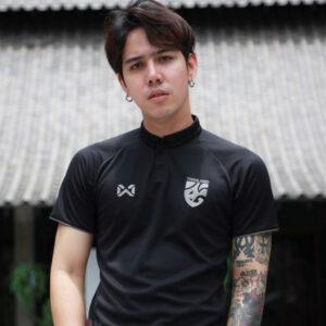 เสื้อโปโลช้างศึกทีมชาติไทย สีดำ-รมดำ WA-19FT35M2-AS