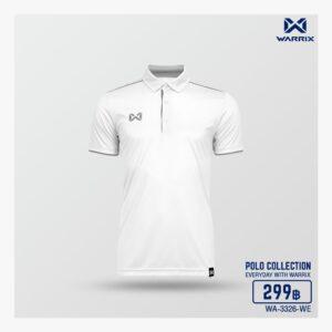 เสื้อโปโล WARRIX สีขาว-เทา WA-3326-WE