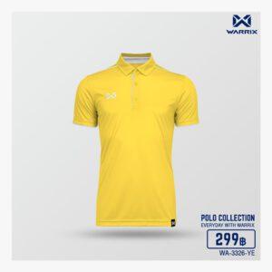 เสื้อโปโล WARRIX สีเหลือง-เทา WA-3326-YE