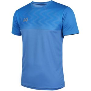 WARRIX เสื้อฟุตบอลคอกลมตัดต่อ แขนสั้น สีน้ำเงิน WA-FBA573-BB